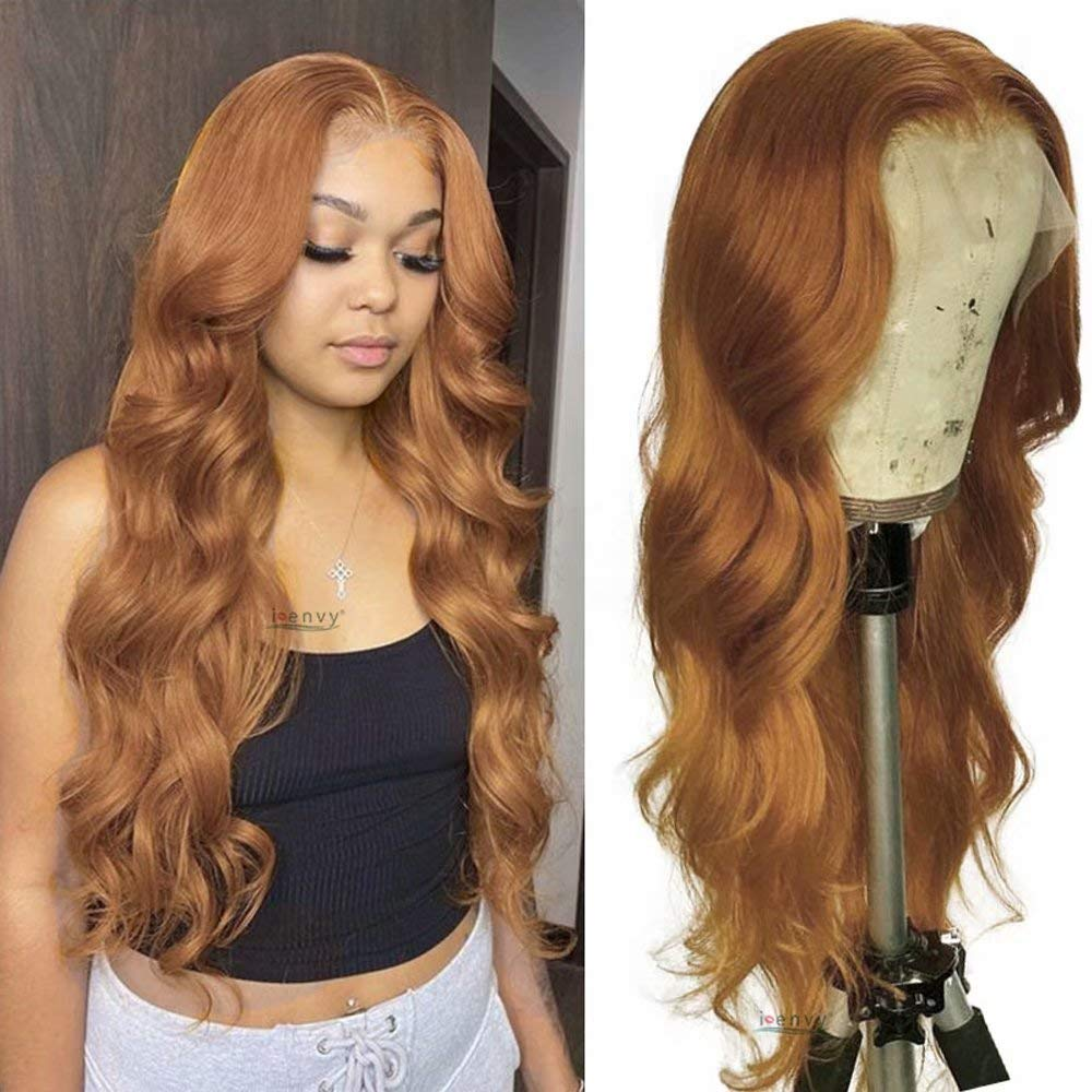 Oulaer Hair Blonde Colored Ginger Orange Wave Trans At the price Body 13x6 gift HD