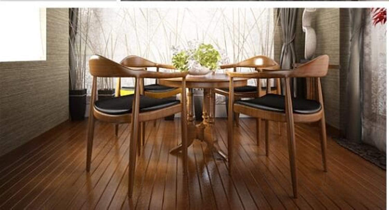 Wuzhengzhijie Chaise de Salle à Manger d'hôtel de Balustrade de Dossier en Bois Plein de Chaise (Color : E) D