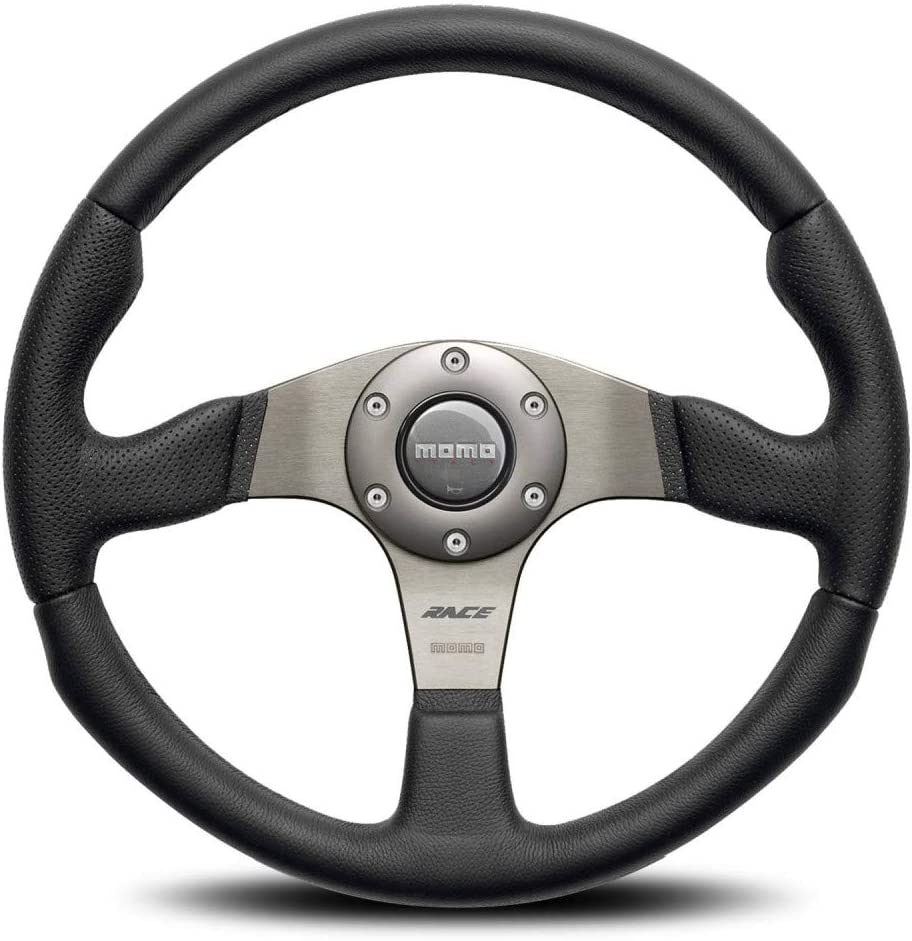 Momo RCE35BK1B Steering Wheel Race Year-end gift OFFicial shop 350 Air leather 1 Leather