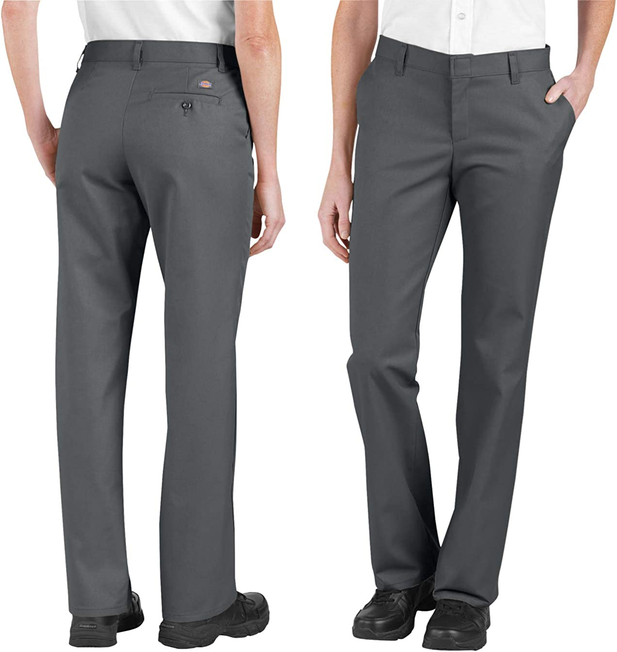 Dickies FP322 Women's Industrial Front Pant-CHARCOAL-16 Flat Pet Opening large release Max 45% OFF sale
