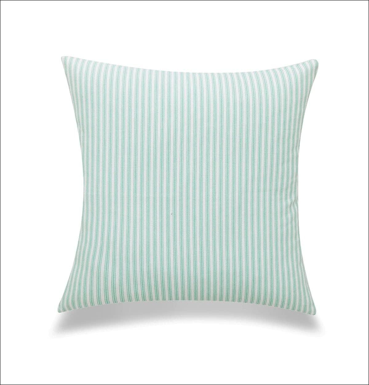 Boston Mall Green New sales and White Stripes Cushion