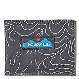 KAVU Roamer Bi Fold Slim Polyester Wallet - Black Topo