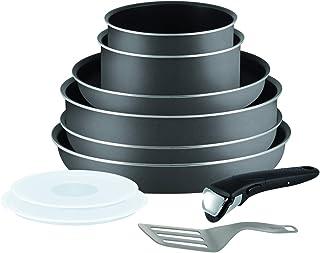 Tefal Ingenio l2049602 Set de 10 Pièces de Cuisine Casserole Pots et Poêle Set, Gris (pour Tous Chaleur Sources à L'Except...