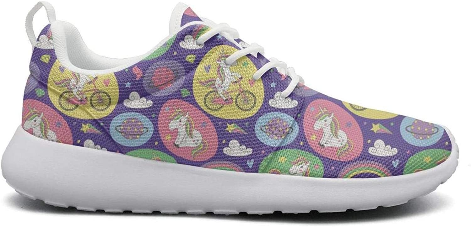 UISLE7 Cats Unicorns and Rainbow Unicorn Cats Womens Cute Lightweight Sneakers Loafers Athletic