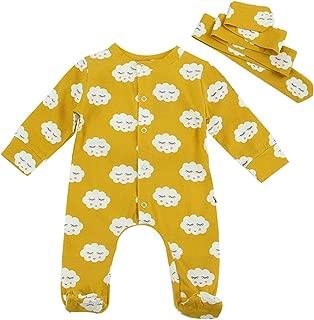 Sayla Baby Jungs M/ädchen Winter Bekleidung Warm Neugeborenes Baby R/üschen Spitzenkragen Fliegender /Ärmel Einfarbig R/üschen Spitze Bodysuit