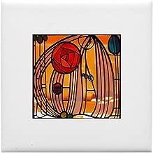 CafePress - Charles Rennie Mackintosh Stained Glass Tile Coast - Tile Coaster, Drink Coaster, Small Trivet