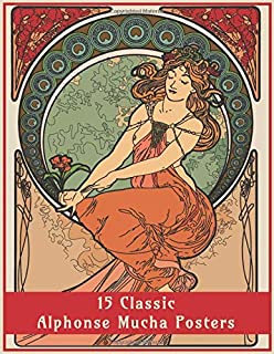 15 Classic Alphonse Mucha Posters: An Art Nouveau Coloring Book (Fantasy Art Colouring Books)