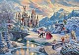 Lzyljr Puzzle 1000 Piece Jigsaw Puzzle Kids Adult -Street Landscape Animal Oil Painting Art Pattern- Snow World Disne
