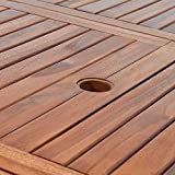 Sitzgruppe 6+1 FSC-zertifiziertes Eukalyptusholz klappbar 7-TLG Tisch Sitzgarnitur - 6