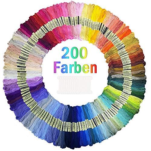 CDWERD -  200 Farben Stickgarn