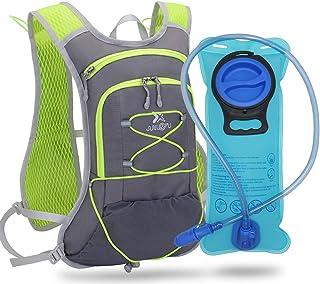 TEUEN Mochila de Hidratación con 2 litros Bolsa de Agua, Mochila Agua Mujer Hombre 6 litros Mochilas Trail Running Ligera ...