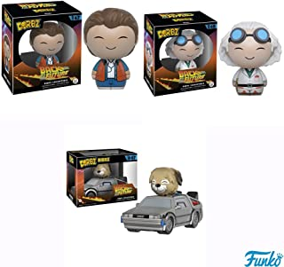 Back To The Future Dorbz Marty McFly,Doc Brown and Delorean with Einstein Vinyl Figures! Set of 3