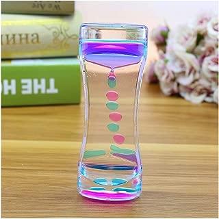 SONGVEN Liquid Timer Sensory Toys Stress Relief Liquid Motion Bubbler Assorted Colors Liquid Calming Sensory Liquid Bubbler Pressure-Relief Toys (5 inch Blue)
