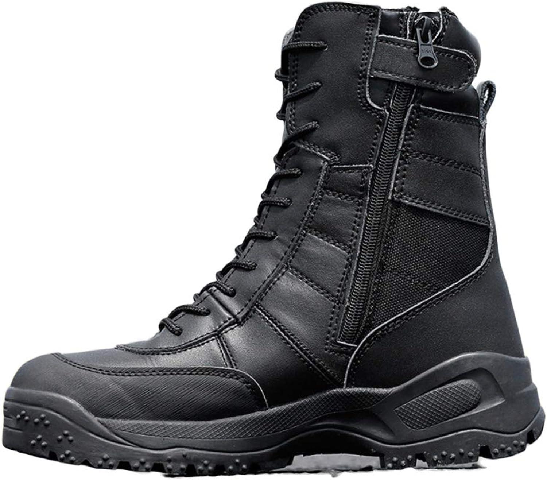 ASJUNQ Waterproof High-top Boots Wear-Resistant Desert Boots Chelsea Chukka Men's Martin Boots Non-Slip Outdoor Hiking shoes
