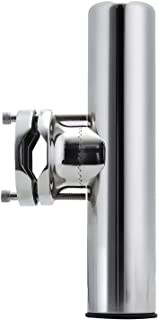 """Manifish Stainless Steel Clamp on 360 Degree Adjustable Marine Boat Fishing Rod Holder for Rails 1-1/4"""" to 2"""" (32mm-50.8mm)"""