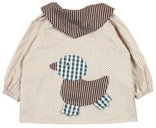SUNNY JU - Babero Bebé Manga Larga Infantil Delantal Algodón 12-18 Meses L - Amarillo