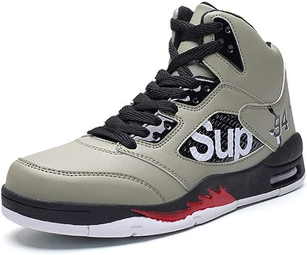 YSZDM Chaussures de Basket-Ball, Baskets Montantes antidérapantes, résistantes à l'usure,vert,42