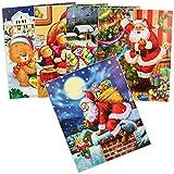 com-four 5X Images de fenêtre de Noël, Auto-adhésives avec différents Motifs - décorations de fenêtre de Noël - décorations de fenêtre - Autocollants (05 pièces - Noël)
