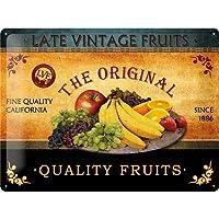 ブリキ看板 フルーツ Quality Fruits/TIN SIGN アメリカン雑貨 インテリア