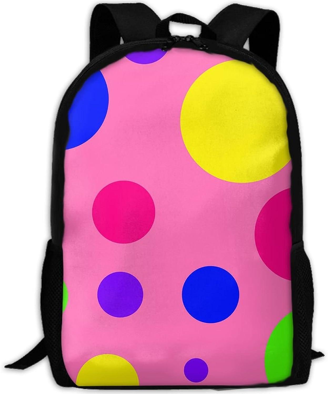 Backpack Laptop Travel Hiking School Bags Polkadot Do You Like Daypack Shoulder Bag