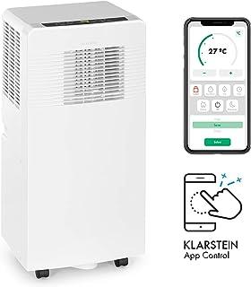 KLARSTEIN Iceblock Ecosmart - Aire Acondicionado 3 en 1, Enfriar, Extraer Humedad y ventilar, Clase A, Control por aplicación móvil, 4 ruedecillas, para Salas de 13 a 18m², 9.000BTU/ 2600 W, Blanco