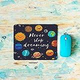 """惑星ゲーミングマウスパッド、かわいい宇宙惑星と星団太陽系月と彗星サンコスモスマウスパッド長方形滑り止めゴムマウスパッド(7.9"""" X9.5"""")"""