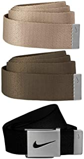 Nike Men's SG Silver-Tone Buckle with Three Interchangeable Belt Straps