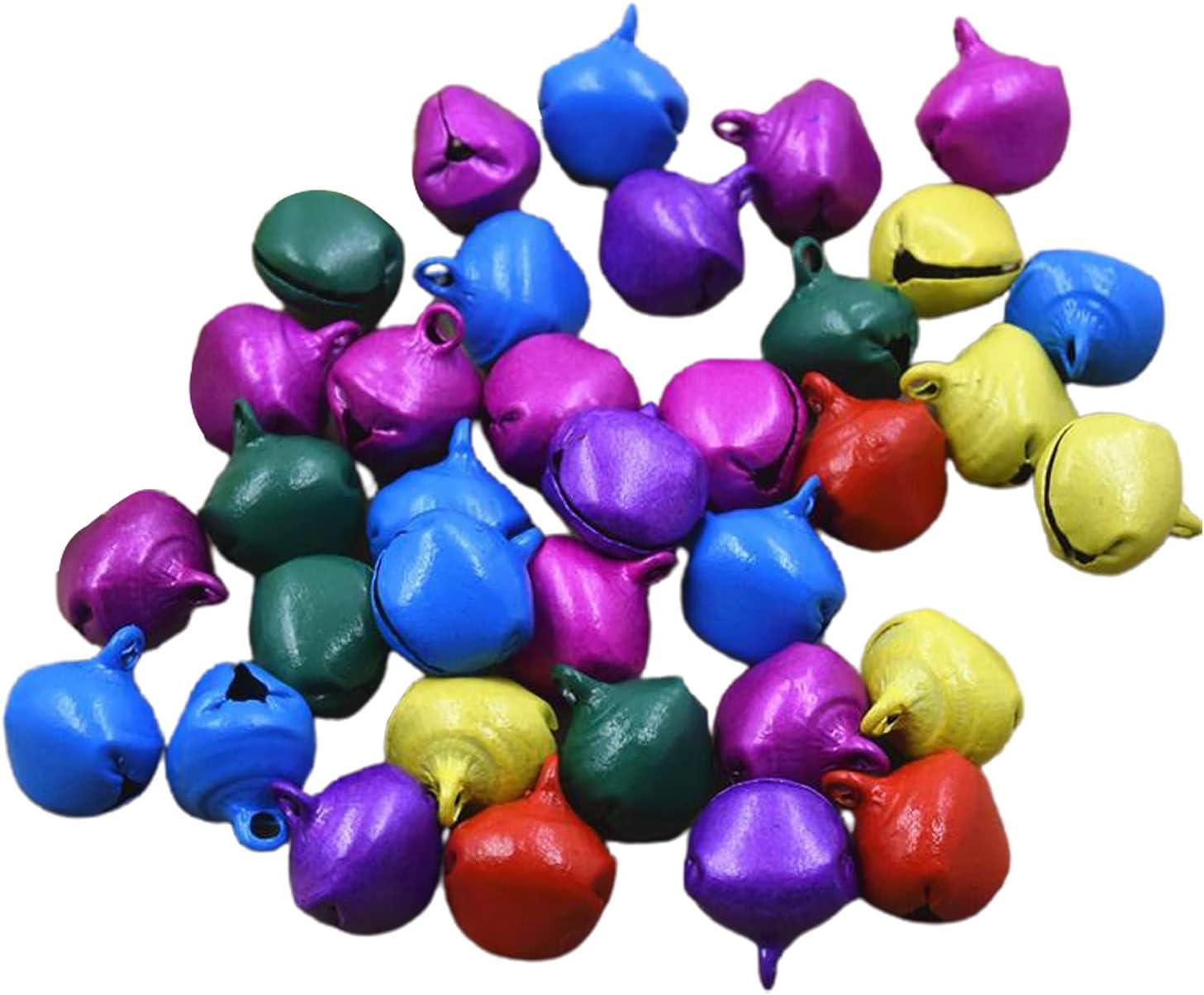 Meideli Popular products 100Pcs Jingle Bells Bulk Christmas wholesale 6mm Bright Bell Color
