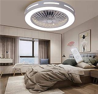 SLZ Ventilador De Techo con Iluminación ZYZY, Ventilador Ventilador De Techo De Luz LED, Velocidad del Viento Ajustable, Control Remoto Regulable, Luz De Techo Moderna LED, Bedroom55cm Moderno