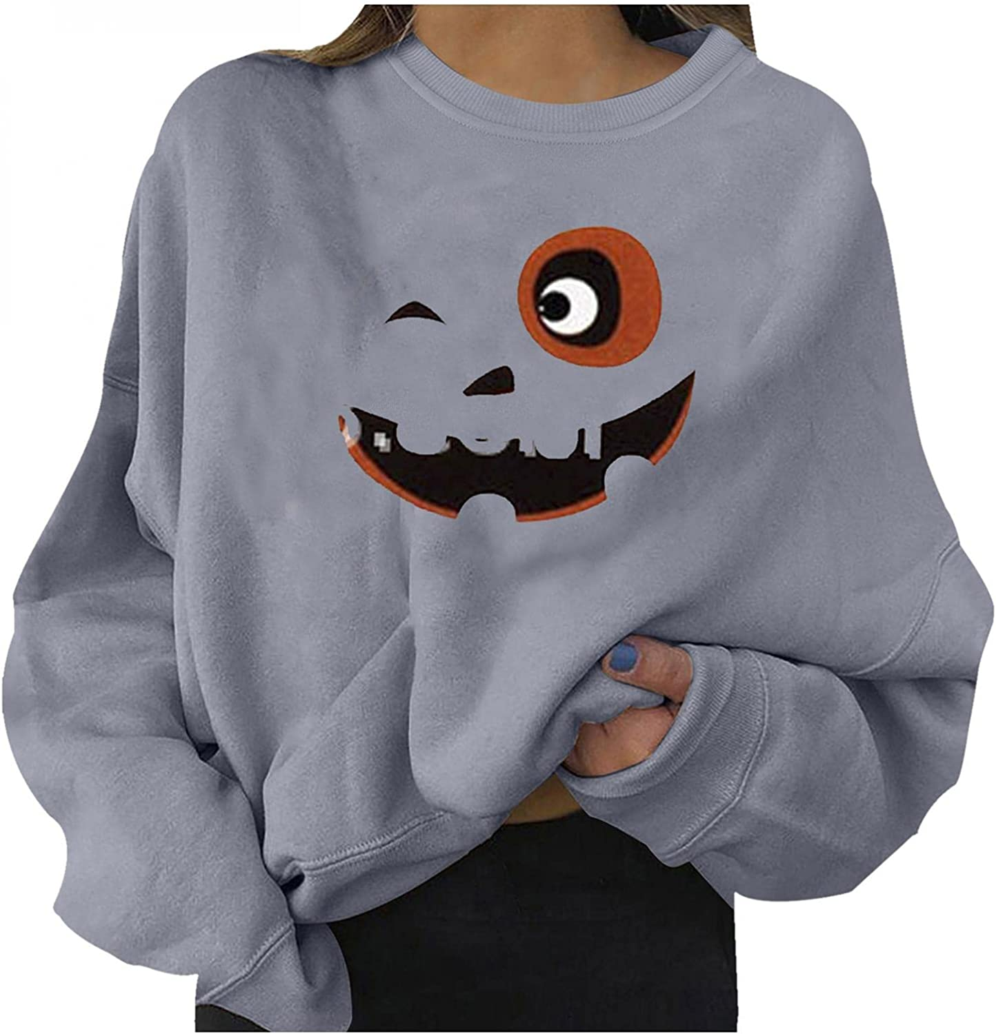 GUOBIOZIY Halloween Costumes for Women,Womens Tops and Blouses Balloon Sleeve Casual Tees Tshirts Workout Exercise