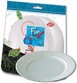 Fun® Everyday Heavy-Duty Paper Plate, Large 9 inch, Pack of 50