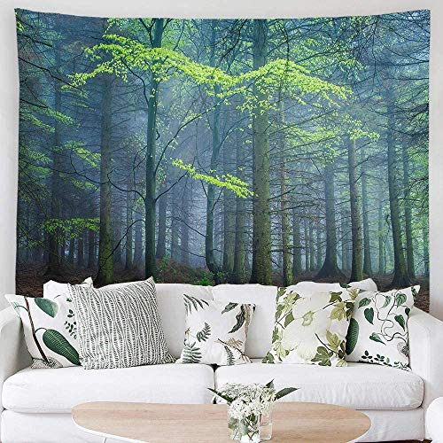 YeeATZ Tapiz para colgar en la pared del hogar, diseño de árbol, de poliéster, decoración de pared para dormitorio, dormitorio, sala de estar, clavos incluidos, 150 cm de ancho x 100 cm de alto.
