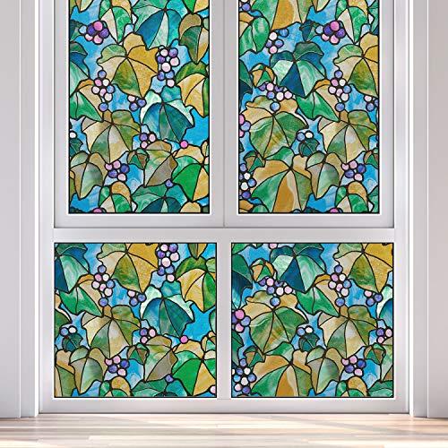 Gila Privacy Control Multicolored Vineyard Indoor Window Film 36 in. W x 78 in. L