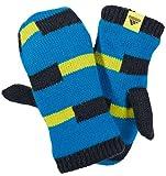 adidas Kinder Fäustlinge STRIPY GLOVE blau-schwarz, Größe:M