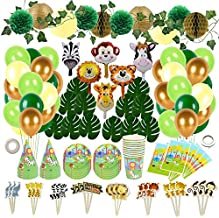 Jungle Safari Party Decorations - 185 Pieces of Jungle Themed Party Decorations for Children Birthday Parties!