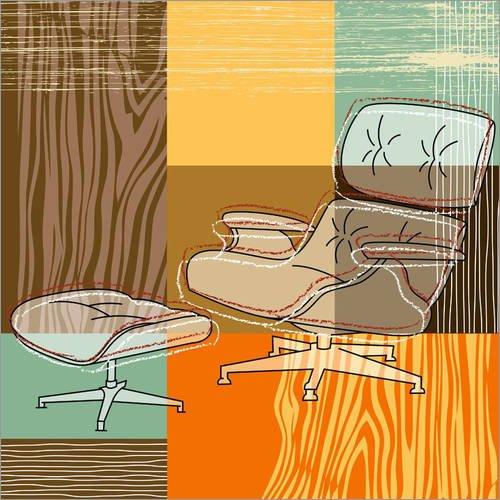 Alubild 20 x 20 cm: Lounge Chair von Thomas Marutschke