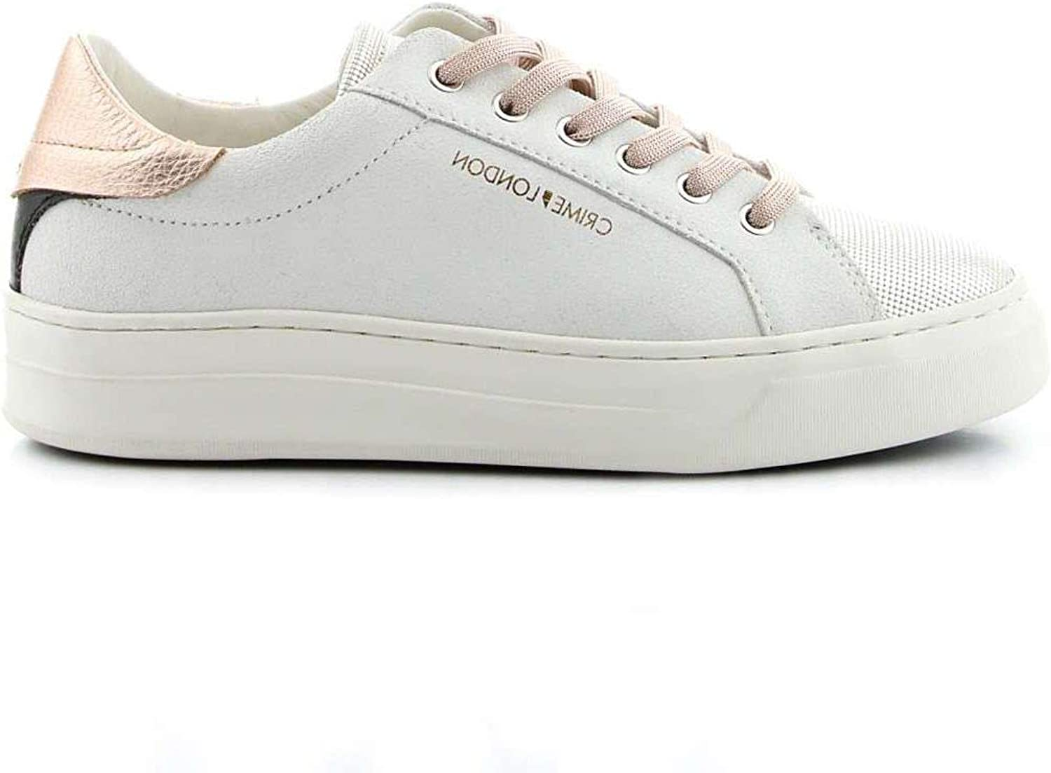 Crime London Women's 25632 White Leather Sneakers