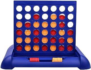 Juego de mesa 4 en 1 juego de 4 en 1, juego de estrategia para 2 jugadores, 4 cuadrículas ganadas, para adultos y niños