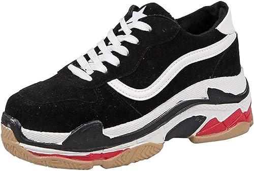 Hhor Chaussures pour Femmes paniers Daddy chaussures Chaussures décontractées épaisses épaisses (Couleuré   Blanc 1, Taille   38EU)  approvisionnement direct des fabricants