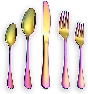 Arcobaleno mestolo in Metallo per Cucinare Cucchiaio da minestra in Acciaio Inossidabile Arcobaleno da minestra con placcatura in Titanio colorato Berglander mestolo da Cucina Arcobaleno