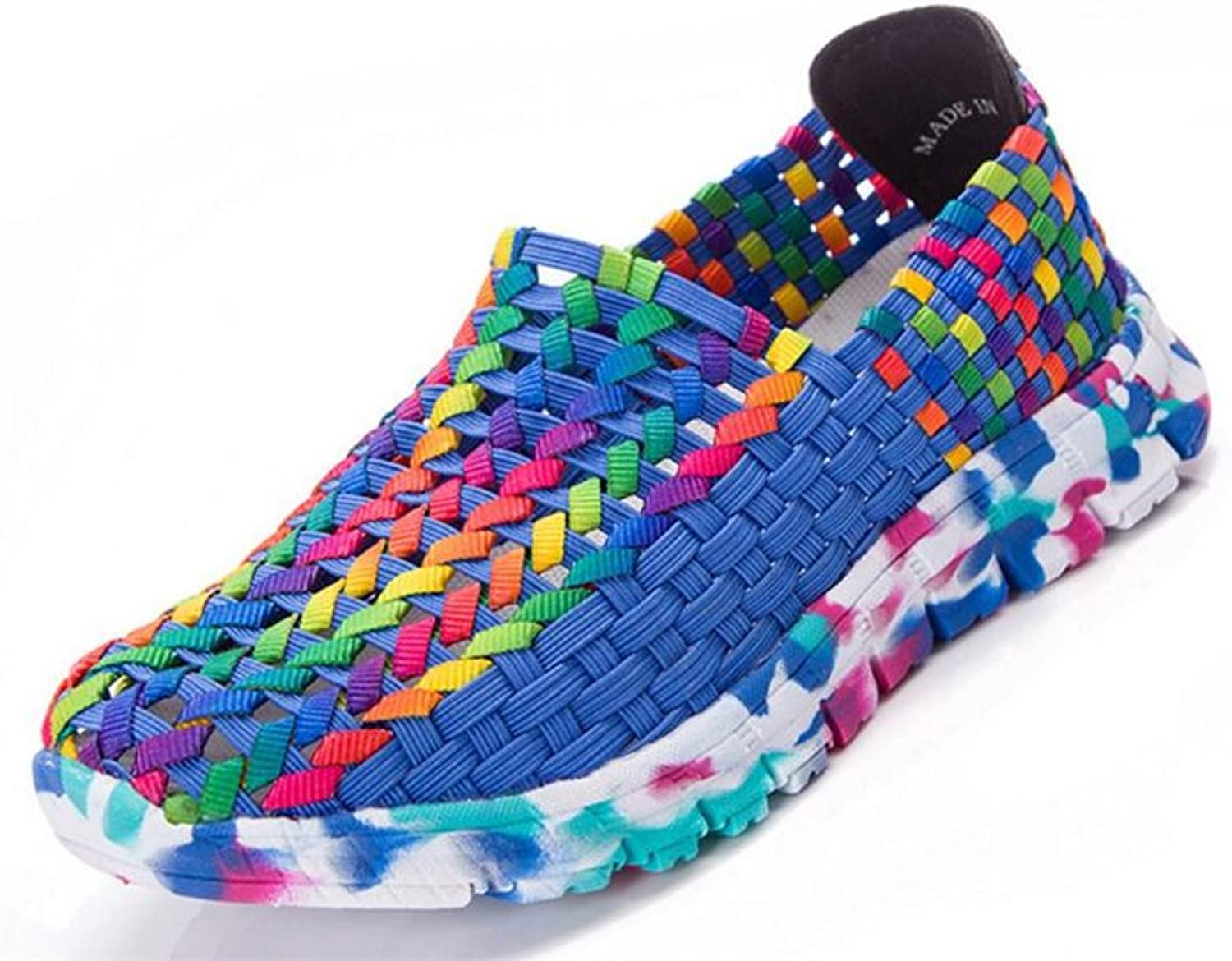 Quality.A New Casual shoes Women's Flat shoes Woven Rocking shoes Sneakers Non-Slip