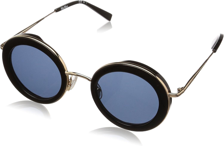 Max Mara Women's Mm Eileen Oval Sunglasses, Black, 46 mm