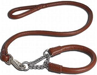 Anglayif Pet Leather Traction Set, Collar And Leash for Medium and Large Dog Joys