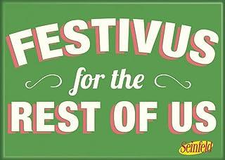 """مغناطيس """"Festivus for Rest of US"""" من Ata-Boy مقاس 6.35 سم × 8.89 سم للثلاجات والخزانات"""