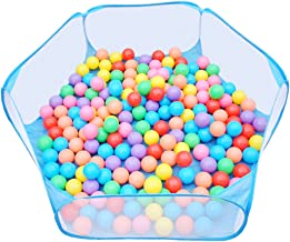 Urbebe Foldable Design Kids Ball Pit Tent Durable Netting Fabric Ball Pit Playpen with Zippered Storage Bag for Toddlers Pets 45.3-inch by 14.6-Inch (Blue)