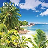 Paradise 2021 7 x 7 Inch Monthly Mini Wall Calendar, Scenic Travel Nature Beach