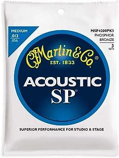 Martin MSP4200 SP Phosphor Bronze Acoustic Guitars Strings - 3 Pack