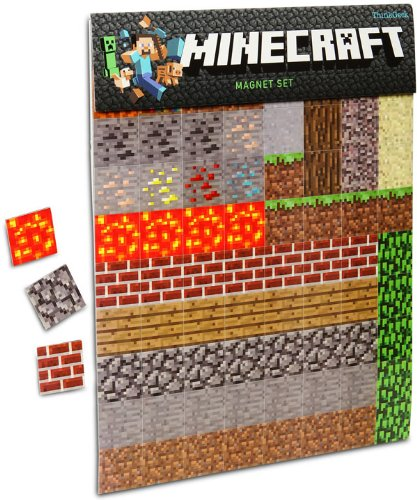 Minecraft Magnet 2-Sheets Pack - 160 pieces