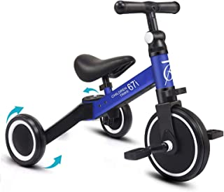 67i Kids Tricycles for 2 Year Olds 3 in 1 Tricycles Toddler Tricycle Kids Trikes for Toddler 3 Wheel Convert 2 Wheel Toddl...