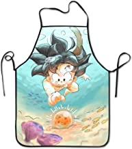 Dragon Ball Super Spoilers Kitchen Apron Bib Aprons with Extra Long Ties